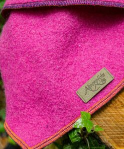 Hundehalstuch - Bandana pink nah